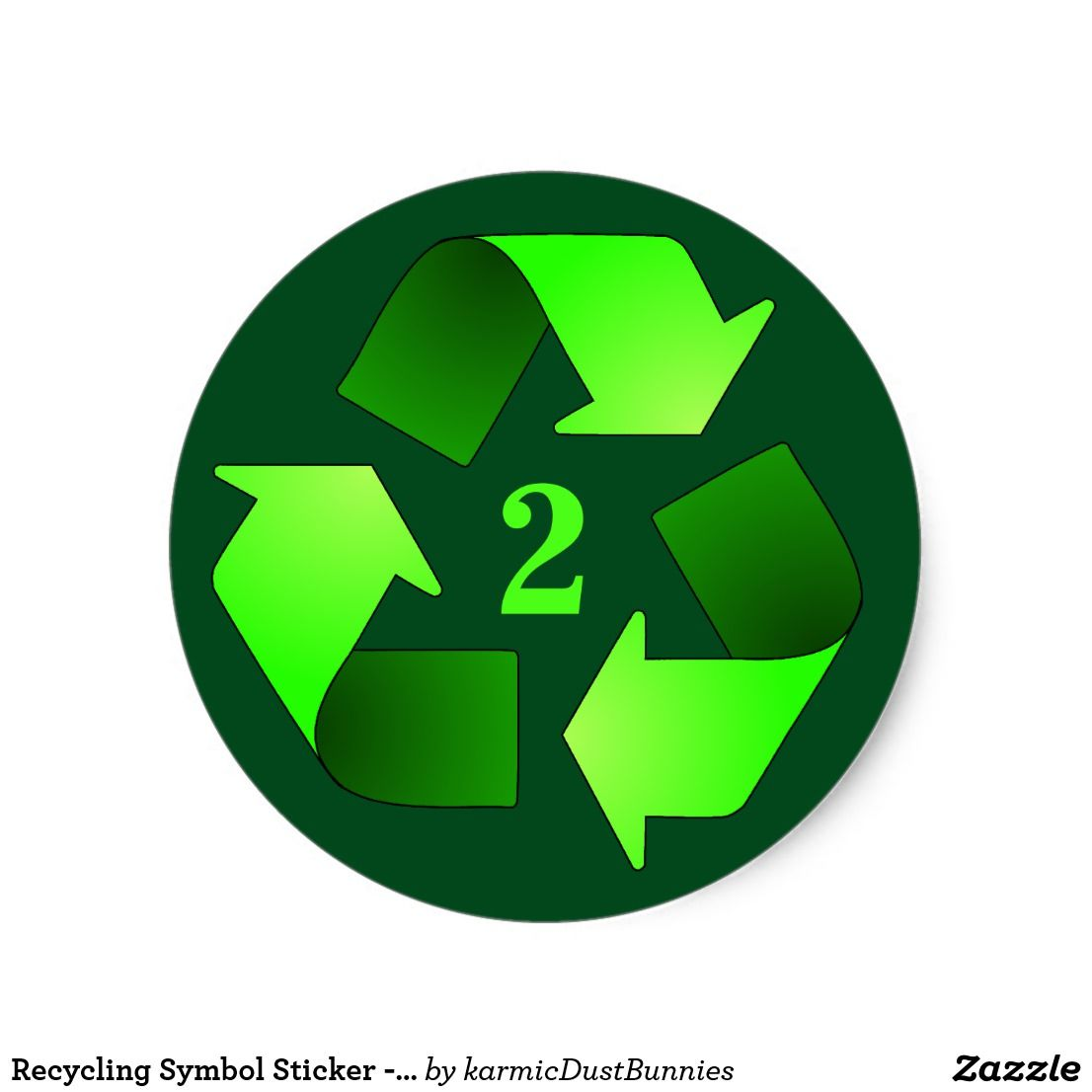 Recycling Symbol Sticker Choose Recycling Number Pinterest