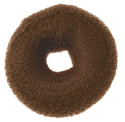 Moño Mignon relleno sintetico de color marron oscuro para ser mas voluminoso el cabello.