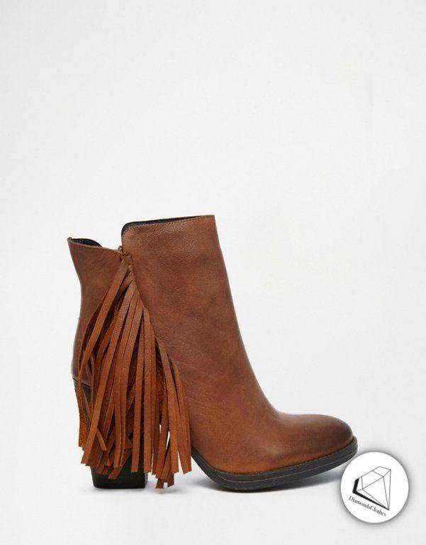 Nq00012 Steve Madden Botki Z Fredzelkami 3 36 6032350892 Oficjalne Archiwum Allegro Black Heeled Ankle Boots Boots Shoes Women Heels