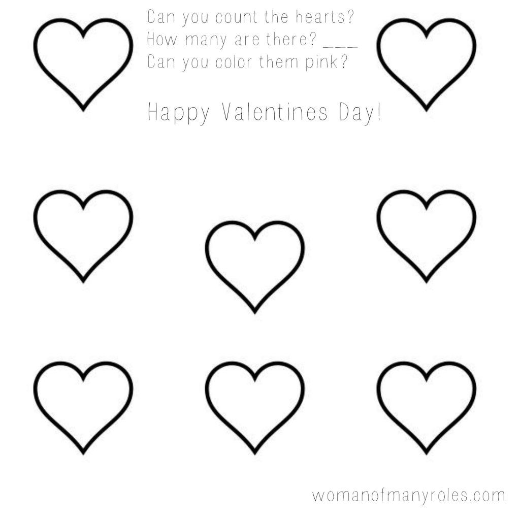 Heart Counting Printable In