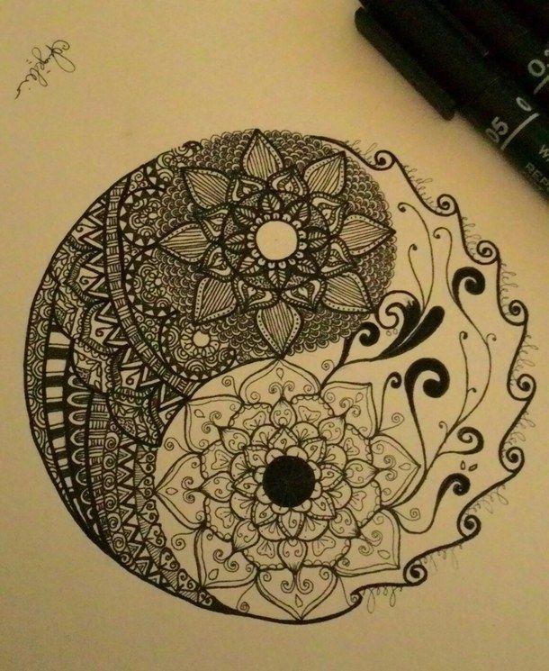 Art Design Doodle Flower Mandala Yinyang Zentangle First Set