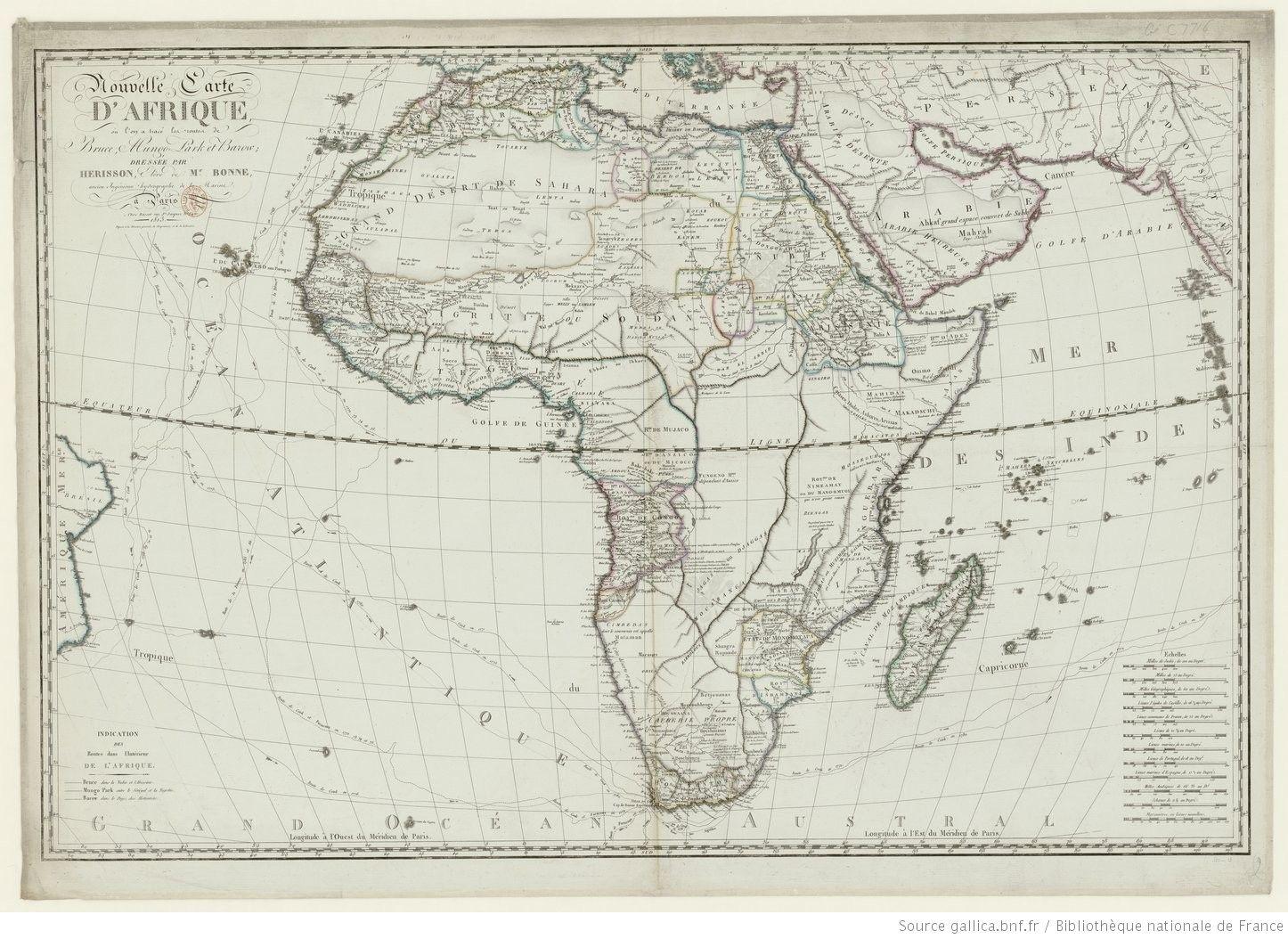 Carte de lAfrique en 1880