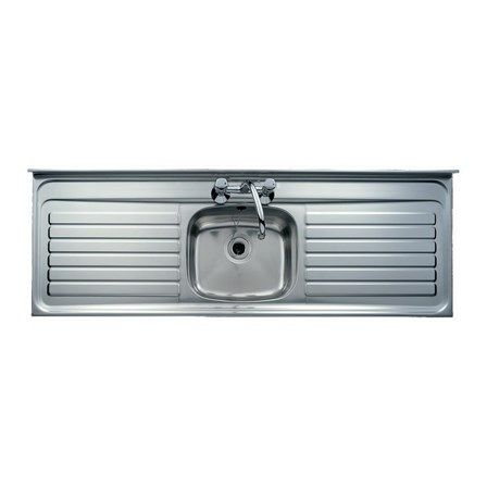 Kitchen Sinks Double Drainer Clearwater contract lay on single bowl stainless steel sink square clearwater contract lay on single bowl stainless steel sink square front double drainer 2 tap holes tap warehouse workwithnaturefo