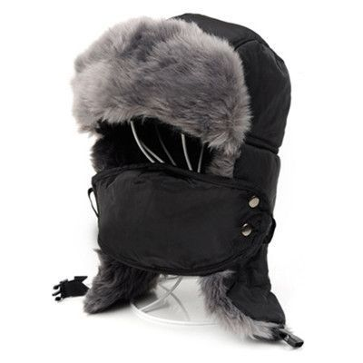5c97b37f462 2017 Winter Men Women Winter Trapper Aviator Trooper Earflap Warm Russian  Ski Hat With Cold Resistant Mask