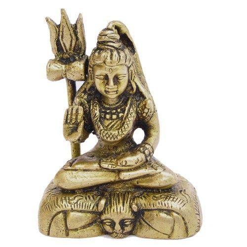 God Shiva Figurine Hindu Statues and Sculptures Brass 2.75 Inches | ShalinIndia - Art on ArtFire