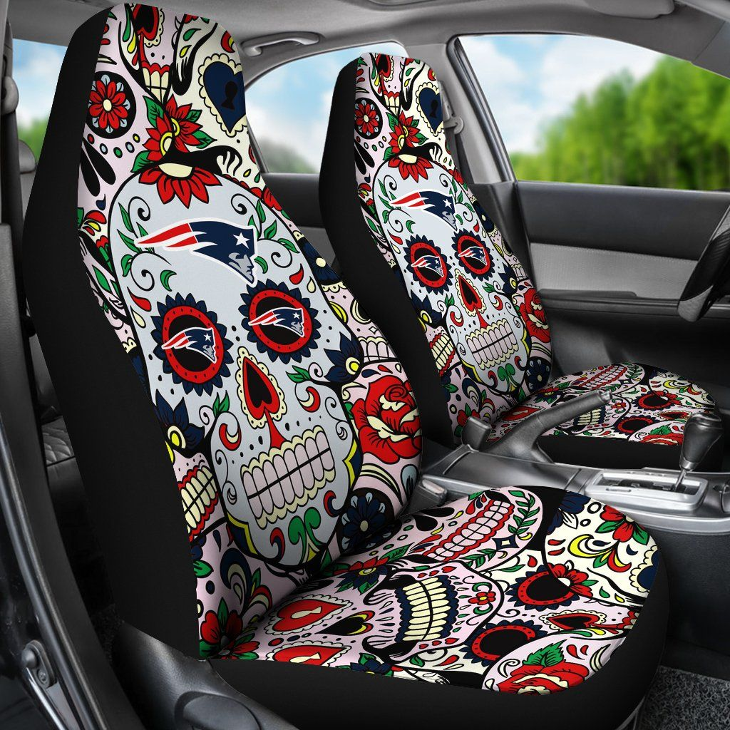 Surprising Party Skull New England Patriots Car Seat Covers New Caraccident5 Cool Chair Designs And Ideas Caraccident5Info
