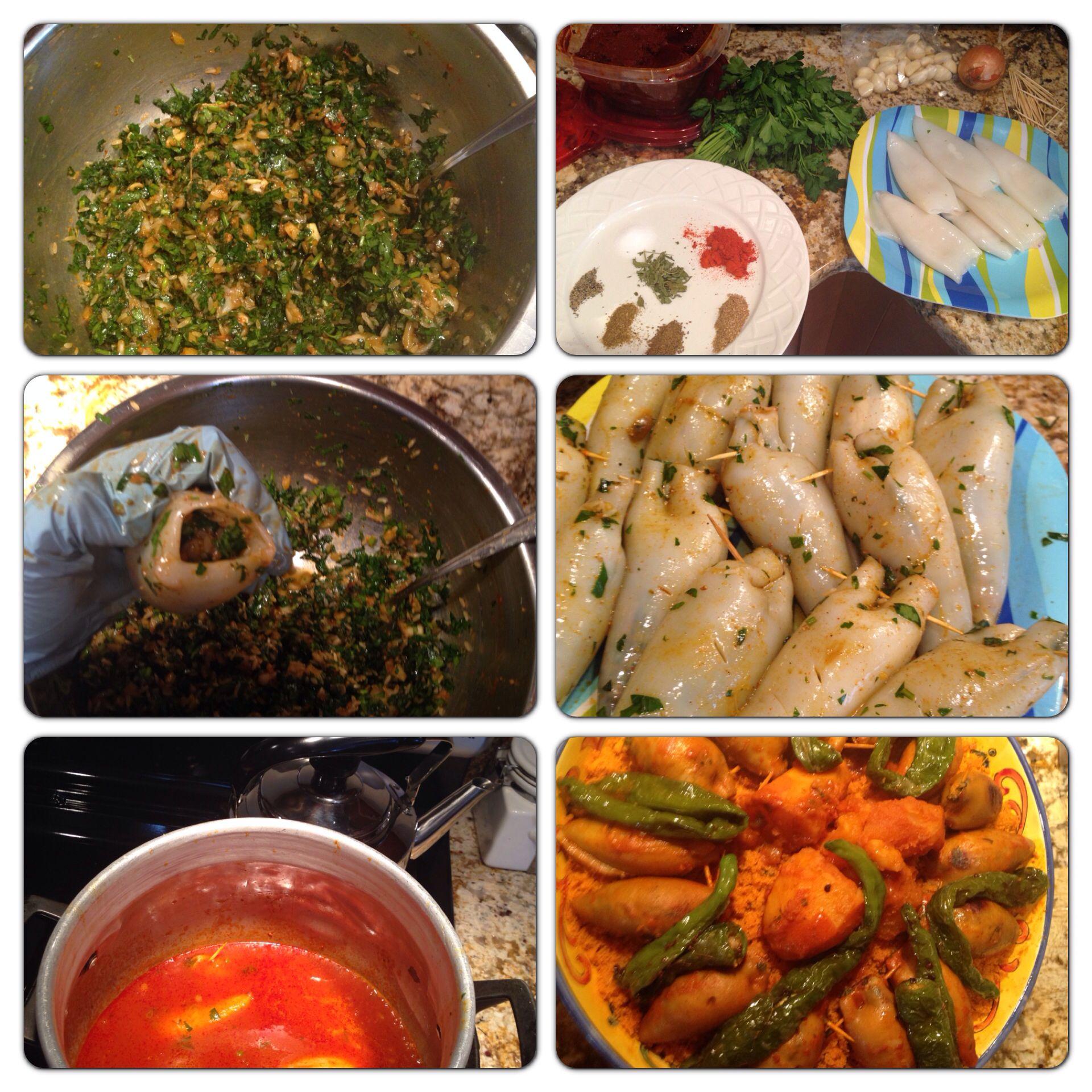 Stuffed calamari my recipes pinterest cuisine tunisienne tunisien et la cuisine tunisienne for Cuisine olfa