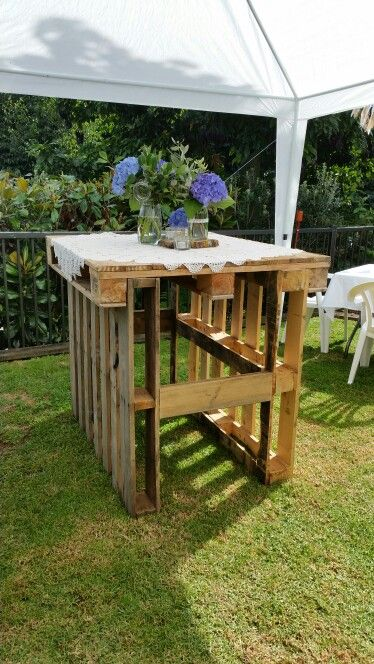 Bar Leaner Made From Pallets Allets Ideas Wood Crate