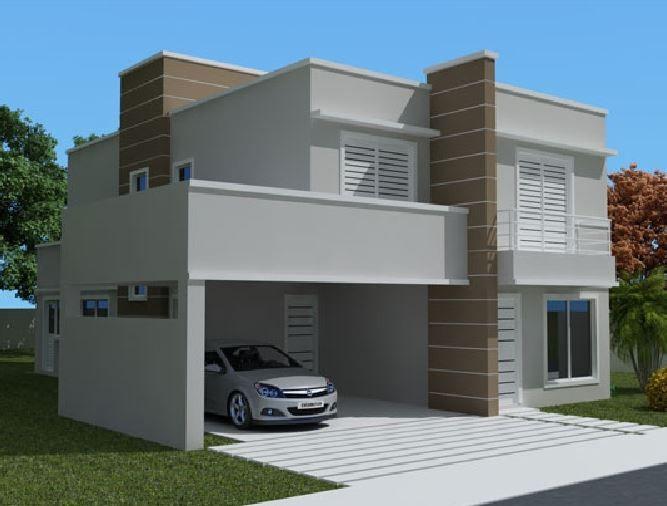 Fachadas de casas modernas de 2 pisos sencillas fachadas for Fachadas pisos modernas