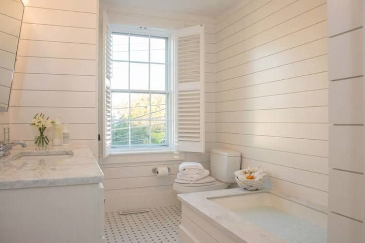 Nina Liddle Design Bathrooms Tub Surround Ivory Shiplap Paneling Ivory Shiplap Clad