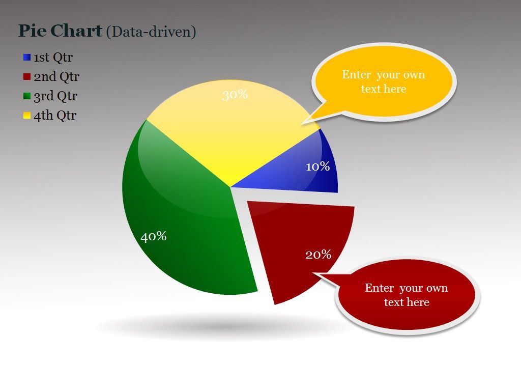 Pie Chart Powerpoint Charts And Diagrams Templates Pinterest