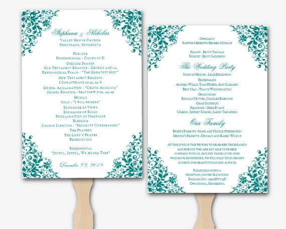 microsoft wedding program template - Paso.evolist.co