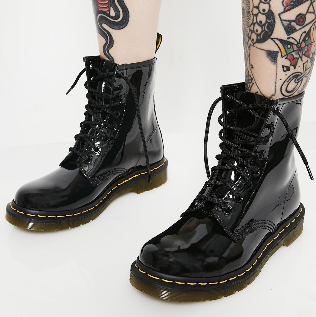 Dr Martens Shoes Dr Martens 1460w Black Patent Leather Boot Color Black Size 8 Patent Leather Boots Boots Black Boots