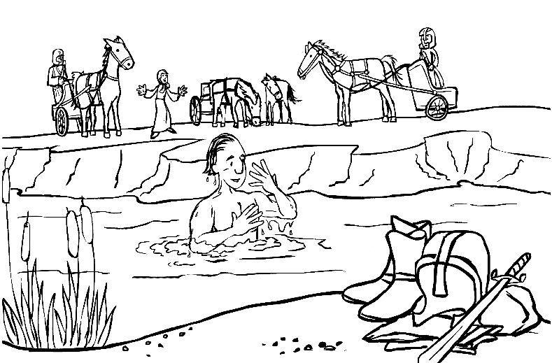 Naaman washing in Jordan River General Kidsu0027 Bible Class Ideas - new preschool coloring pages rain