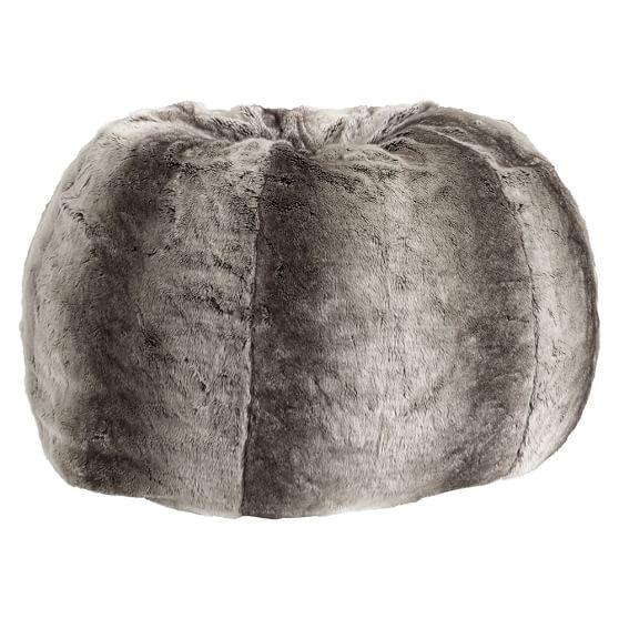 c043b6fa3b Gray Ombre Faux-Fur Beanbag