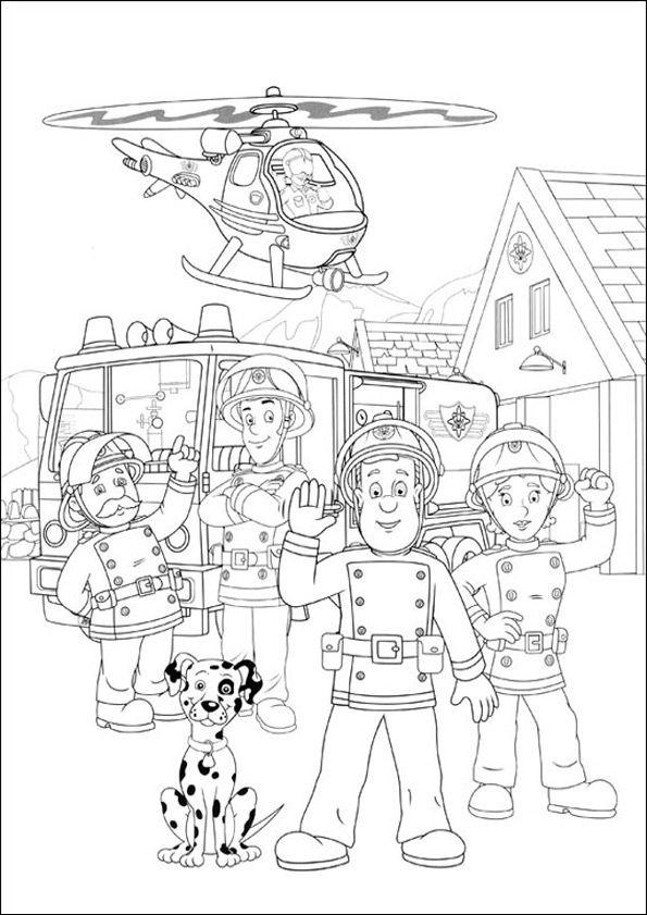 Feuerwehrmann Sam Zum Drucken 42 Ausmalbilder