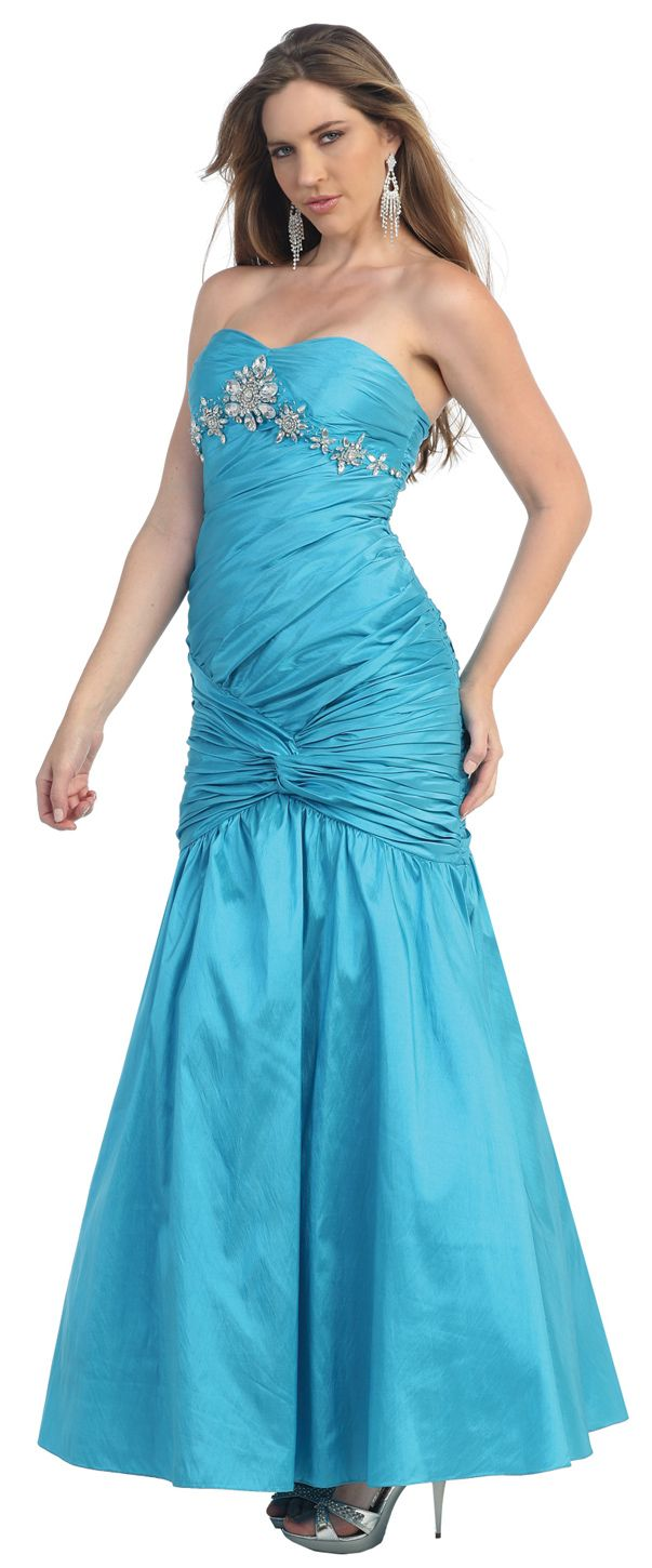 This fabulous strapless dress with embellishment and others like it
