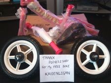 thank you points2shop for my FREE kids bike for my daughters for christmas she going to love it thank you