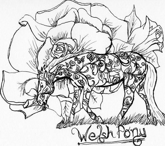 Up for your consideration is a Welsh Pony coloring page from my - best of welsh pony coloring pages