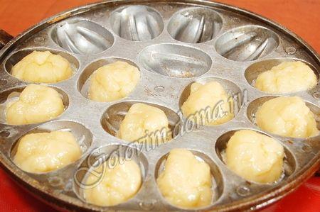 Песочные орешки со сгущенкой рецепт