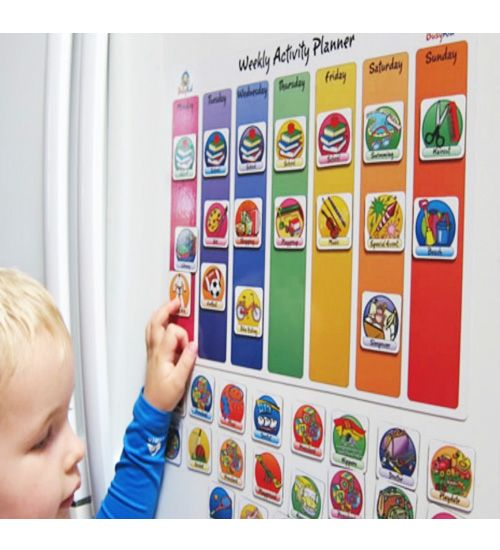 Weekly Calendar For Toddlers : Busy kid magnetic weekly activity planner from lime tree