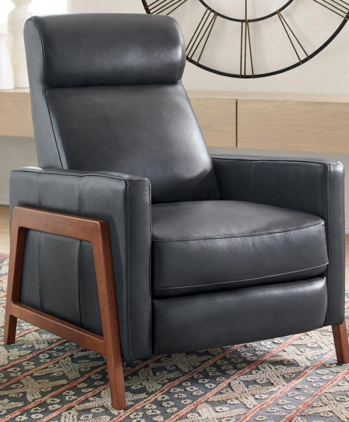 If You Love Relaxing In A Recliner But Don T Want To Jinx The Clean Contemporary Look Of Your Room Just Go Updated With Our Push Back Belmont Leather
