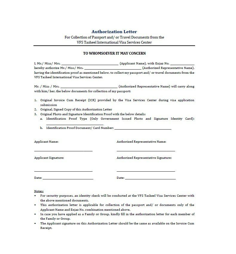 Image result for authorization letter government sample Sample - sample passport authorization letter