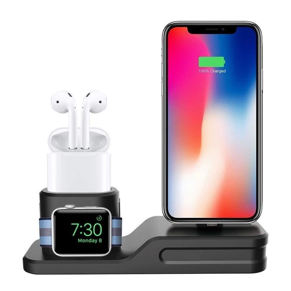 3IN1 Charging Dock for Iphone, Apple Watch & Earpods