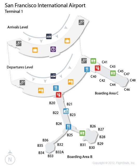 sfo san francisco international airport terminal map airports