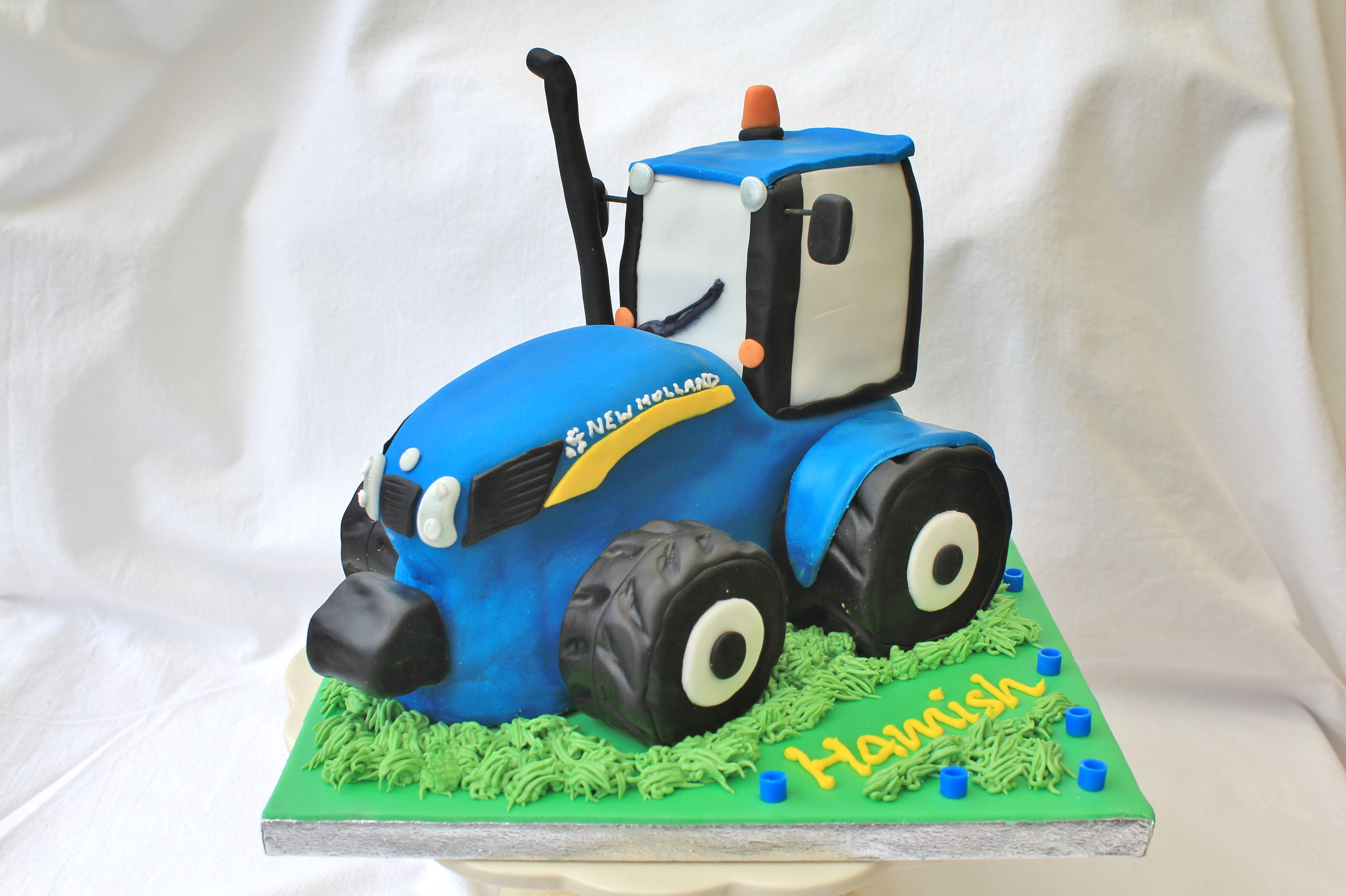 blue tractor wedding cake topper new tractor cake nathan and 12009