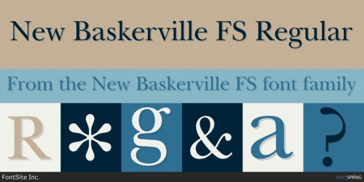 New Baskerville FS Font DOWNLOAD #font #fonts #typography #typeface