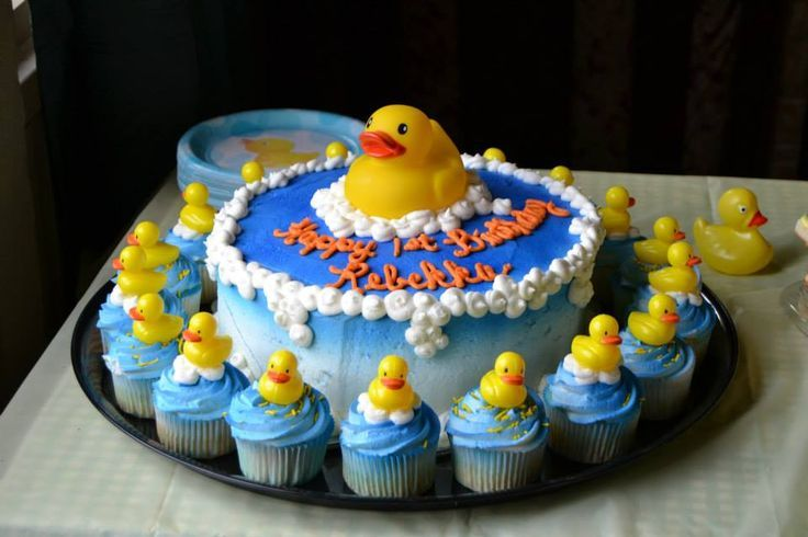 rubber duck birthday ideas Rubber Ducky Birthday Cake Party