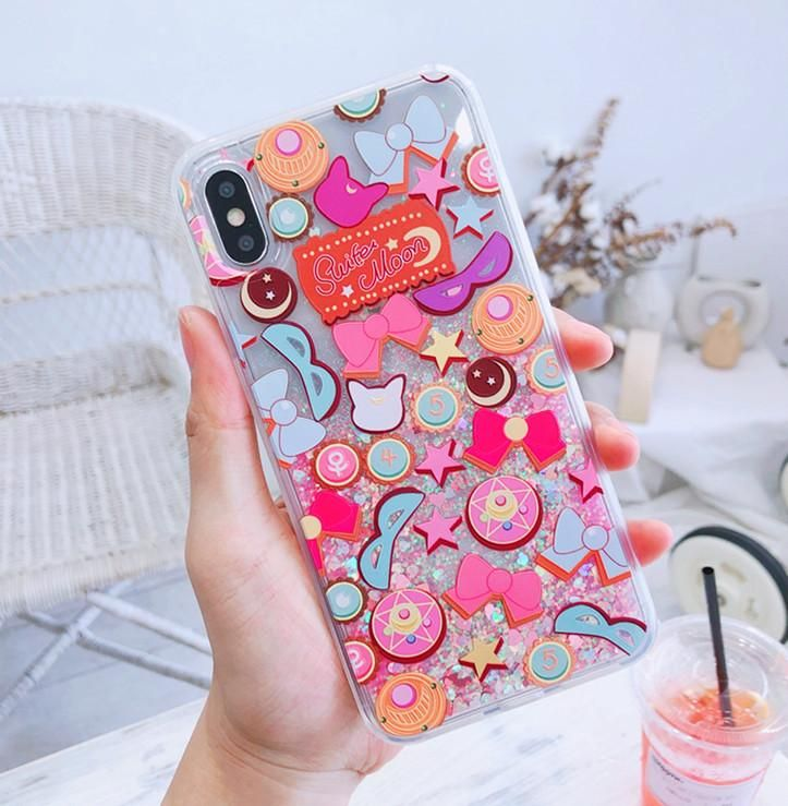Fashion moon quicksand phone case for iphone 66s6plus7