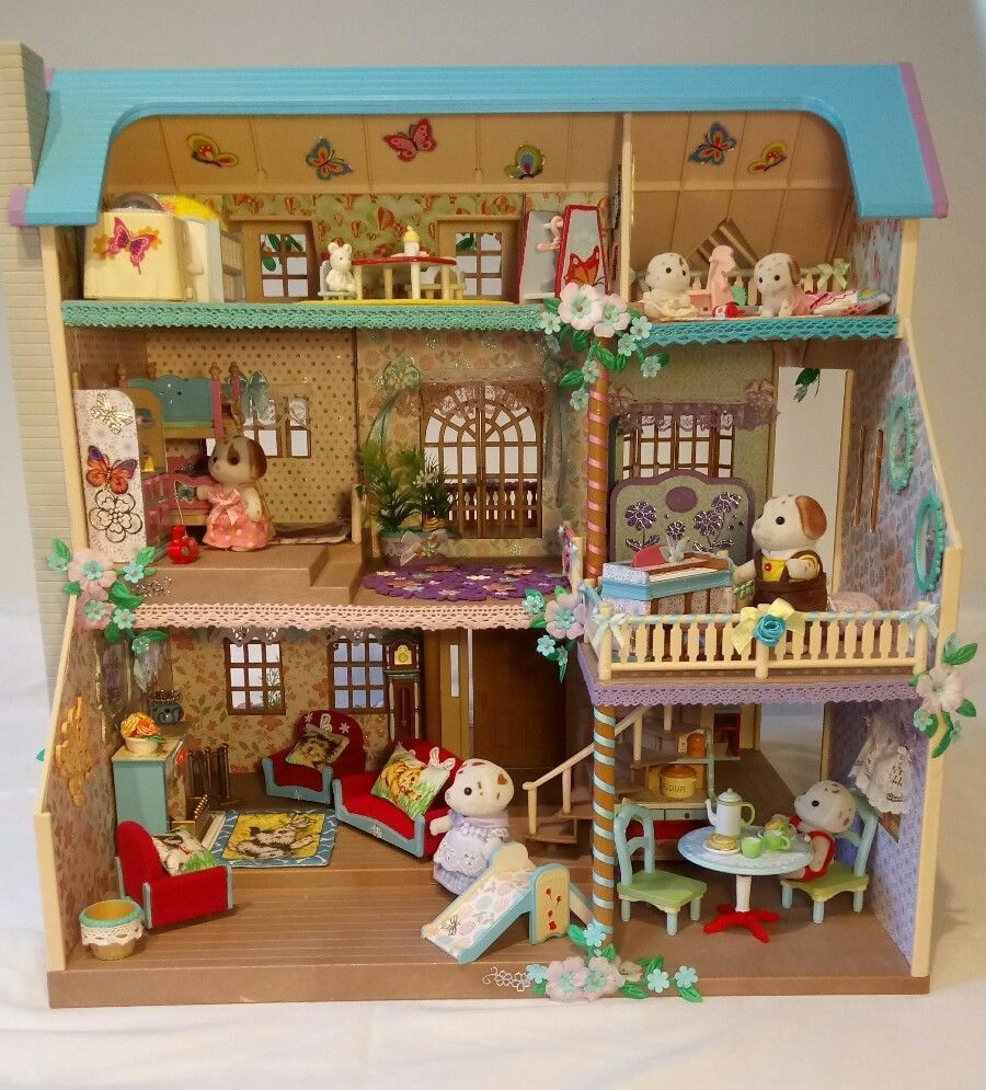 Sylvanian decorated oakwood hilltop manor house furnished with dalmatian family