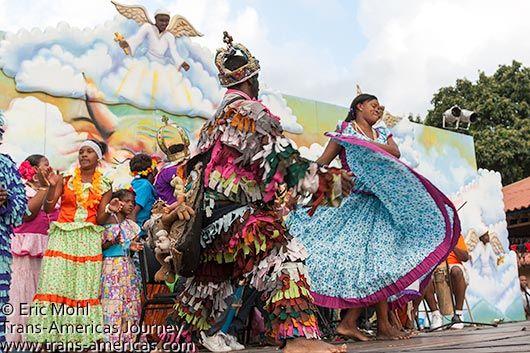 Dancing-Diablos-y-Congos-festival-Panama   Polleras, Montunos ...