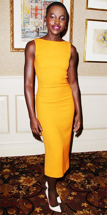 Look of the Day - January 8, 2014 - Lupita Nyong'o in Christian Dior #InStyle