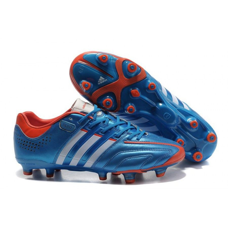 Super Adidas Adipure 11Pro TRX FG Soccer Cleats Blue/White/Red
