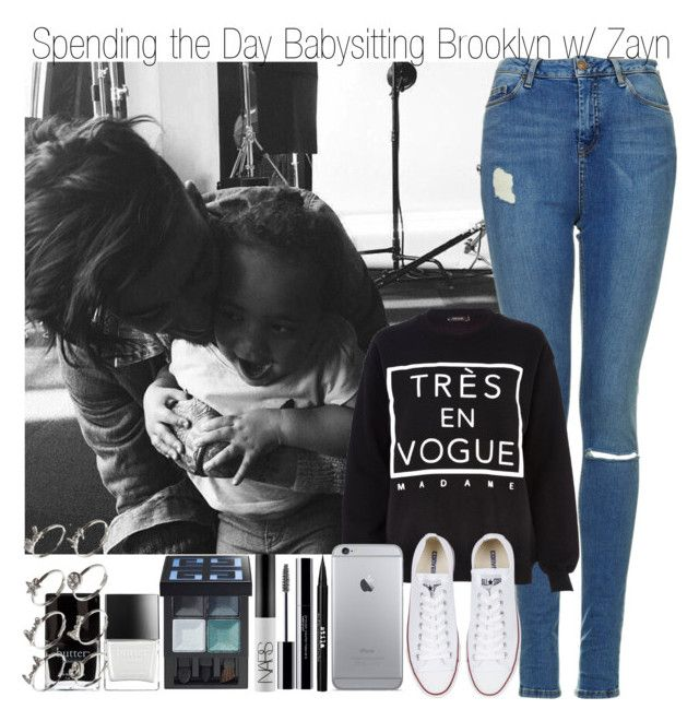 """""""A Cute Set Dedicated to a Nice Person: @aileen2704 & Spending the Day Babysitting Brooklyn with Zayn"""" by elise-22 ❤ liked on Polyvore featuring Topshop, River Island, Converse, Stila, shu uemura, NARS Cosmetics, Givenchy, Butter London and ASOS"""