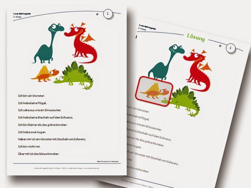 Logicals Grundschule Klasse 2-3 Leseverständnis Material | schule ...
