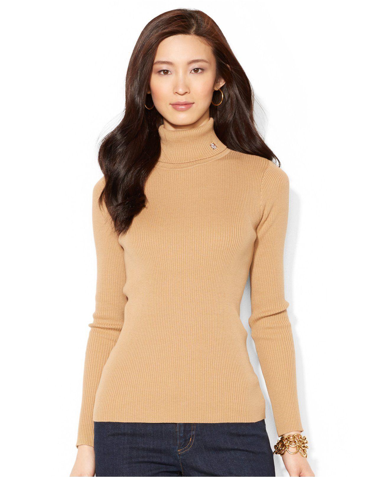 603a7d078c0 Lauren Ralph Lauren Long-Sleeve Turtleneck Sweater - Sweaters - Women -  Macy s