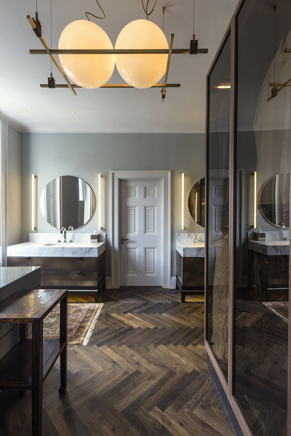 Master Bathroom Interior Of The Harley Street, London Residential Project