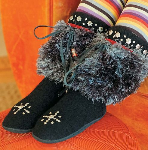 Apres Ski Slippers pattern by Mary