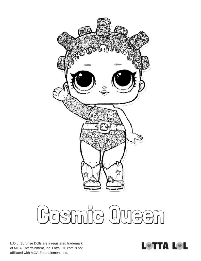 Cosmic Queen Coloring Page Lotta Lol Coloring Pages Cute Coloring Pages Birthday Coloring Pages
