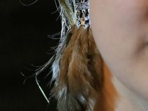 Earrings feathers tribal unique ethnically style
