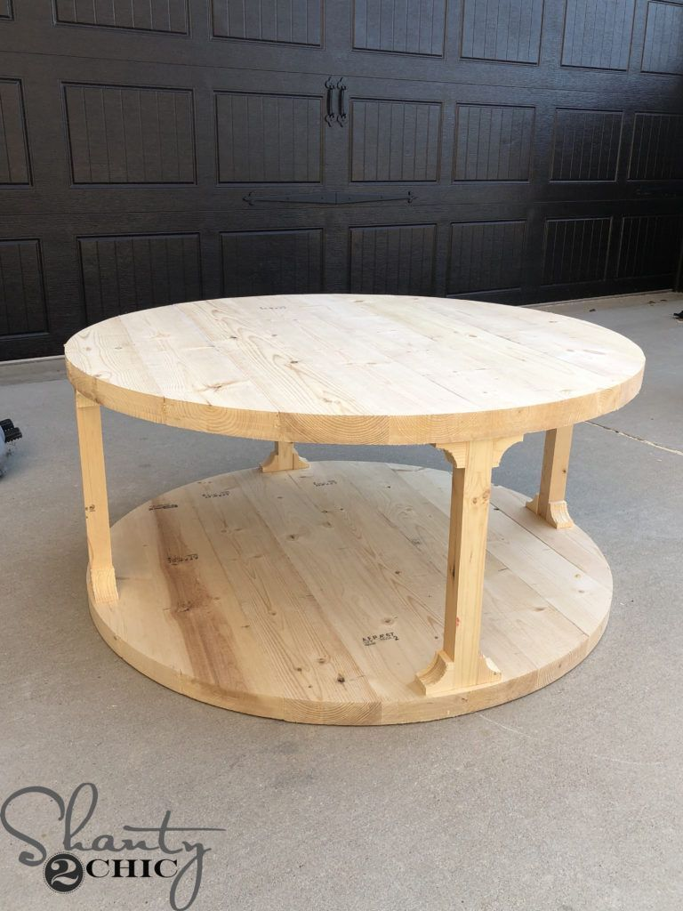 Diy Round Coffee Table In 2020 Round Coffee Table Diy Coffee Table Coffee Table Farmhouse [ 1024 x 768 Pixel ]