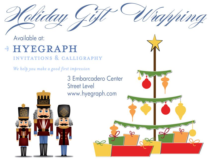 Holiday Gift Wrapping Available at Hyegraph | Holiday Cards-American ...