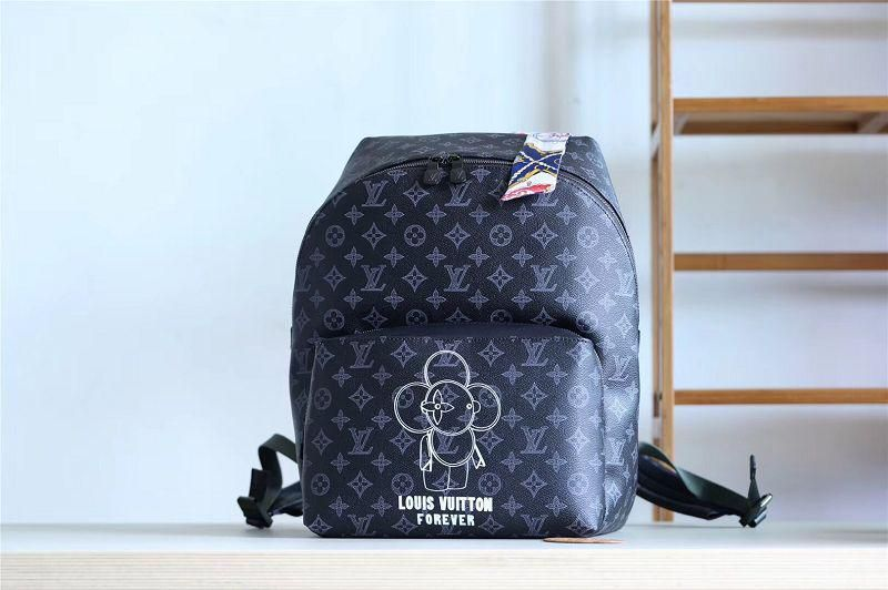 ed39290ce68b M43675 Louis Vuitton 2018 Men Vivienne Premium Monogram Eclipse Apollo  Backpack This Apollo Backpack features Vivienne