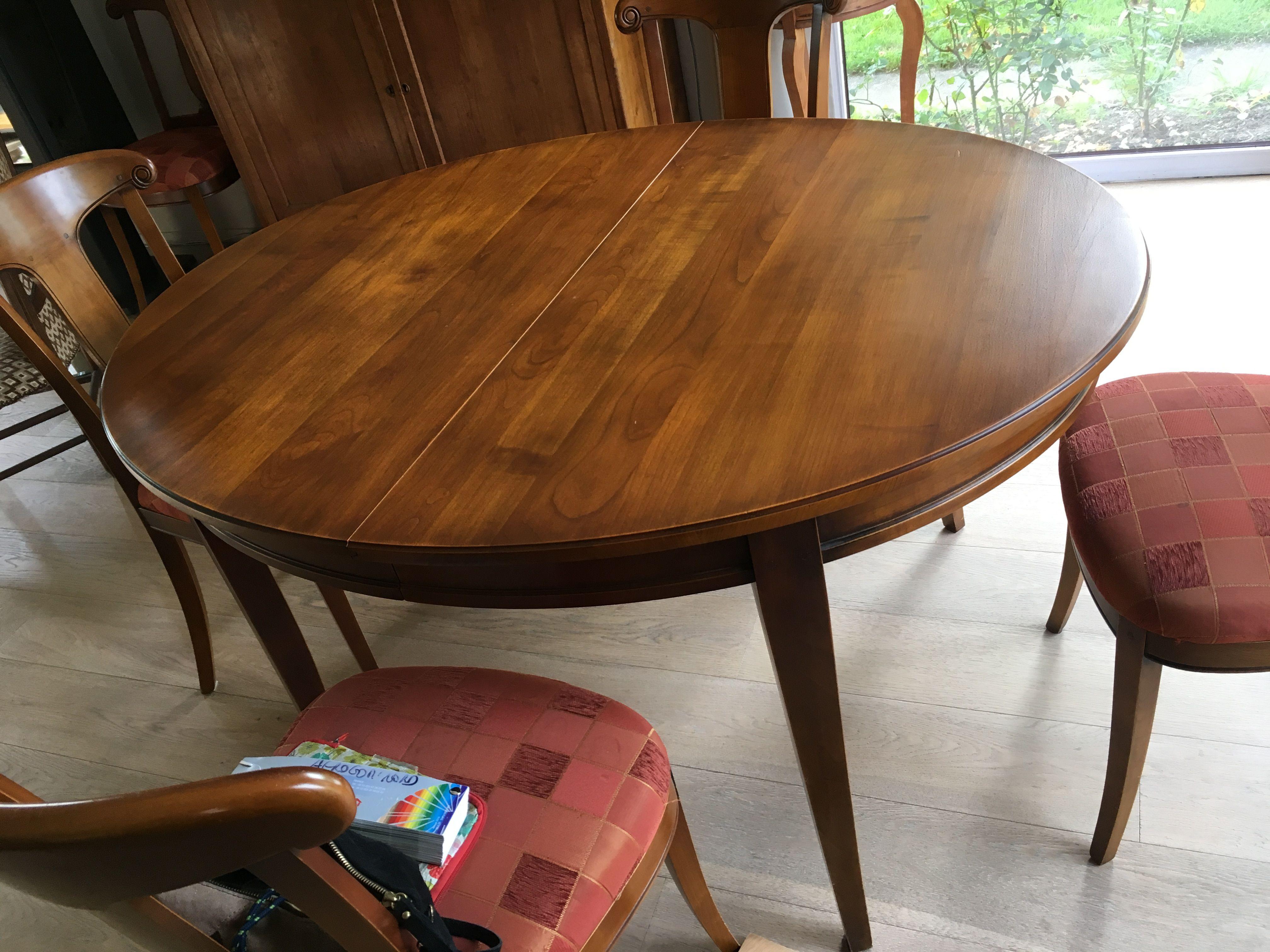 table merisier avant table bois