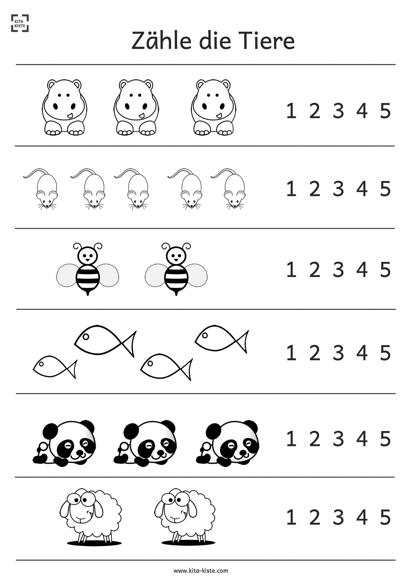 Preschool Printable Worksheets