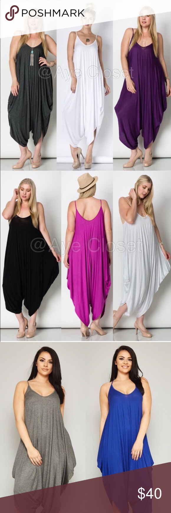 f8c9dccc22c New plus size oversized harem drape jumpsuit boho Brand new without  tags.price firm unless bundled. The color may vary brighter   lighter than  the actual ...